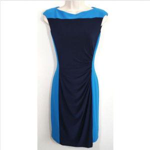LAUREN RALPH LAUREN Colorblock Sheath Dress 1354E1